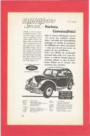 PUBLICITE SUISSE DE 1950 VEHICULE AUTOMOBILE FORD TAUNUS - Cars