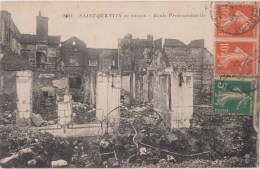 SAINT-QUENTIN   En Ruines    Ecole Professionnelle - Saint Quentin