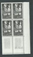 France N° 1394 XX : Sites : Abbaye De Moissac En Bloc De 4 Coin Daté Du 22 . 5 . 63 : Sans Trait,  Sans Charnière TB - 1960-1969