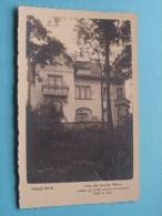 Villa Des Grands Hôtels Habitée Par S.M. La Reine De Hollande 1926 - 1931 ( Voir/zie Foto Voor Details ) !! - Hotels & Restaurants