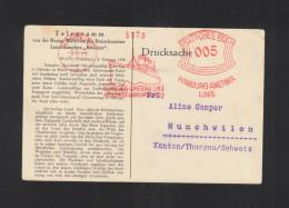 Dt. Reich AK Jerusalem Telegramm HAPAG Dampfer Resolute Haifa Palestine 1934 - Briefe U. Dokumente