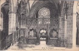 Cp , 29 , LE FOLGOËT , Vue Intérieure De L'Église , Le Jubé Et La Chaire à Prêcher - Le Folgoët