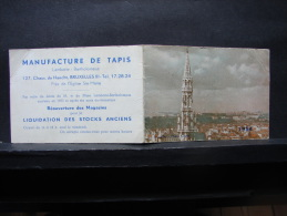 Calendrier. 1. Manufacture De Tapis Lambotte Bartholomeus. 1954. - Calendriers