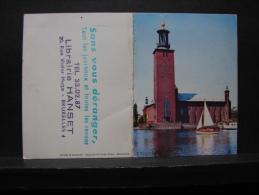 Calendrier. 3. Librairie Hanset Bruxelles. 1961 - Calendriers
