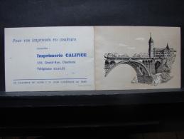 Calendrier. 4. Imprimerie Califice Charleroi 1961 - Calendriers
