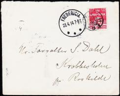 1914. HERSLEV + FREDERICIA 25.4.14. 10 øre.  (Michel: ) - JF181221 - Denmark