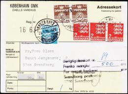 1970. Adressekort. Franko Mangler 500 øre. + KØBENHAVN POSTBANEGÅRDEN 28.5.70. (Michel: ) - JF181234 - Postage Due