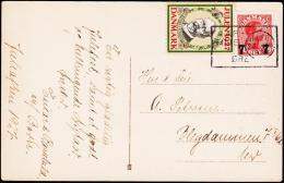 1927. JULEN 1927. HOLBØLL + 7/20 øre Chr. X. AARHUS 23 XII 1927 ØRE. (Michel: ) - JF181217 - Denmark