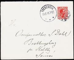 1915. HERSLEV + FREDERICIA 24.2.15. 10 øre Chr. X.  (Michel: ) - JF181225 - Non Classés