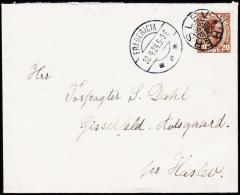 1924. HERSLEV + FREDERICIA 30.4.24. 20 øre Chr. X.  (Michel: ) - JF181227 - Denmark