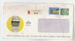 1978  SWITZERLAND COVER Illus ADVERT Illus ITRACO DIGITAL WATCH With ´ITRACO SAMBA SWISS MADE´ LABEL SEAL Clock Stamps - Switzerland