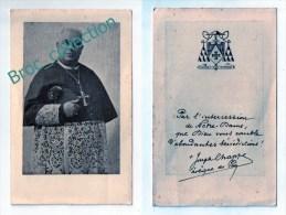 Le Puy-en-Velay, Image Pieuse Monseigneur Joseph Chappe, évêque, Bénédictions Par L´intercession De Notre-Dame - Images Religieuses