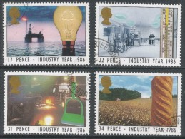 Great Britain. 1986 Industry Year. Used Complete Set. SG 1308-1311 - 1952-.... (Elizabeth II)