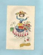 Jeune Maman Poussette Landau Cadeaux  Fleurs - St. Catherine