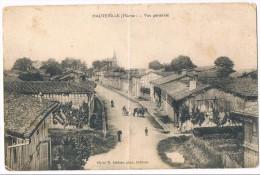HAUTEVILLE . 51 . Vue  Générale ( Trace De Pli ).1914 - Other Municipalities