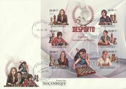 Mozambique 2010 - Cover: FDC - Chess - Ajedrez