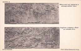 Palace Of Assur Wall Panel , Iraq , 00-10s :Ashur-nasir-pal Besieging A Town & Fugitives On A River - Irak