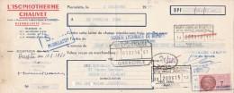 Lettre Change 2/12/1959 L'Isotherme CHAUVET PIERRELATTE Drôme Pour Grenoble - Lettres De Change