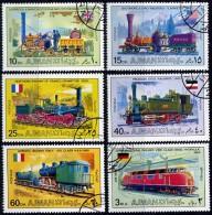 Ajman Mi. 1197 / 1202  Histor. Dampflokomotiven Diesellok V 200 DB - Treinen