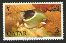 QATAR 1965 - PESCI IN ACQUARIO - Num. Catalogo:  Michel  QA 74A  Nuovo 47x31 Mm - Qatar