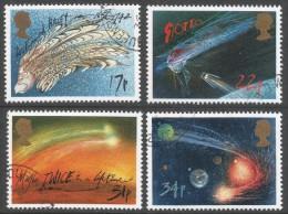 Great Britain. 1986 Appearance Of Halley's Comet. Used Complete Set. SG 1312-1315 - 1952-.... (Elizabeth II)
