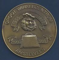 NL.- Jetons. Groot Winkelcentrum 1955 - 1985 / 1960 - 1985 Amstelveen.- Amstelland Stichting Zorg Gehandicapten. 2 Scans - Nederland
