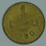 Roumanie Romania Rumänien 1 Leu 1950 AUNC / UNC # 2 - Roumanie