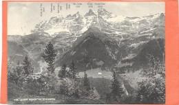 CHAMPERY  (cpa - Suisse)   Chaine Des Dents Du Midi   Vue De Champéry  - - VS Valais