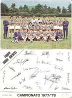 Foto Cartolina LEGGETE HURRÀ JUVENTUS Con Autografi In Calce Campionato 1977-78 - Calcio