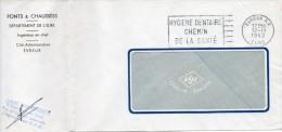 "1962 - Obl FRANKERS-SECAP De EVREUX R.P. ""HYGIENE DENTAIRE CHEMIN DE LA SANTE"" - Annullamenti Meccanici (pubblicitari)"