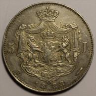 Roumanie Romania Rumänien 5 Lei 1883 Argent / Silver  HIGH GRADE # 1 - Roumanie