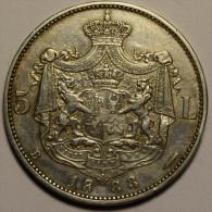 Roumanie Romania Rumänien 5 Lei 1883 Argent / Silver HIGH GRADE # 13 - Roumanie