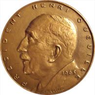 FRANCE. MÉDAILLE HOMMAGE À PRESIDENT HENRI QUEUILLE. 1.965. FRANCIA - Profesionales / De Sociedad