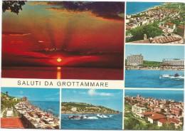 O111 Saluti Da Grottammare (Ascoli Piceno) - Tramonto Sunset Coucher - Panorama Vedute Multipla / Viaggiata 1970 - Altre Città