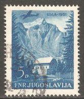 Yugoslavia 1951 Mi# 656 Used - Mount Triglav, Slovenia / Airplane - 1945-1992 Sozialistische Föderative Republik Jugoslawien