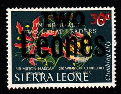 Sierra Leone MH 1966 'Two Leones' Surcharge On Scott #C39 - Sierra Leone (1961-...)
