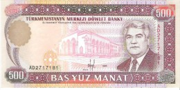 Turkmenistan - Pick 7 - 500 Manat 1995 - Unc - Turkménistan