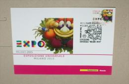 ITALIA 2015 - MILANO EXPO 2015, NUTRIRE IL PIANETA, OFFICIAL MAXI CARD - 2011-...:  Nuovi