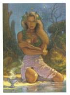 La Fée De La Source - Huile De Joël Bernabel - ( Fée, Sorcière, Wicca, Wiccan, Seins Nus) - Carte Neuve - Ilustradores & Fotógrafos