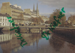 Quimper, Kathedrale St. Corentin, Brücke über Die Odet, Parkstrasse, Um 1970 - Kirchen U. Kathedralen