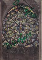 Carcassonne, Basilika Saint-Nazaire, Rosette, Um 1975 - Kirchen U. Kathedralen