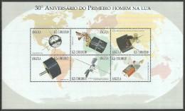 ANGOLA 1999 SPACE COMMUNICATIONS  M/SHEET MNH - Angola
