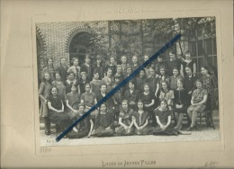 1 Photo D´école De Classe Collée Sur Carton - Lycée De Jeunes Fille - Lille 1925 - 1926 - 4 Scans - Photos