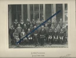 1 Photo  De Classe D´école  Collée Sur Carton - Lycée Faidherbe - Lille -  1924-1926  - 4 Scans- - Photos
