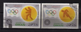 State Of Oman - Olimpic Munchen 1972. 2 Valori.   Oblitéré.  Vedi Desrizione - Oman