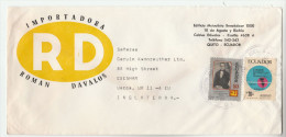 ECUADOR Illus ADVERT COVER Stamps HIGHWAY CONGRESS Map Road, To GB - Equateur
