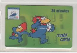 """MOBICARTE - PU 3 -  """"  FOOTIX  """"  1/97...12/99 -  30 Mn   RARE Et T.B.E - France"""