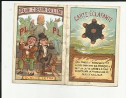 Calendrier petit Format - Fil de Lin - PL - Ajour� - 1902 - 2 volets -