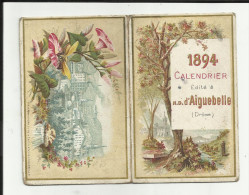 Calendrier petit Format - N.D.Aiguebelle  - 1894 - 2 volets - 2 scanns -
