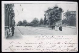 587 - BELGIQUE  - LIEGE - La Rue Louvreix Et La Jardin Botanique - Dos Non Divisé - Herstal